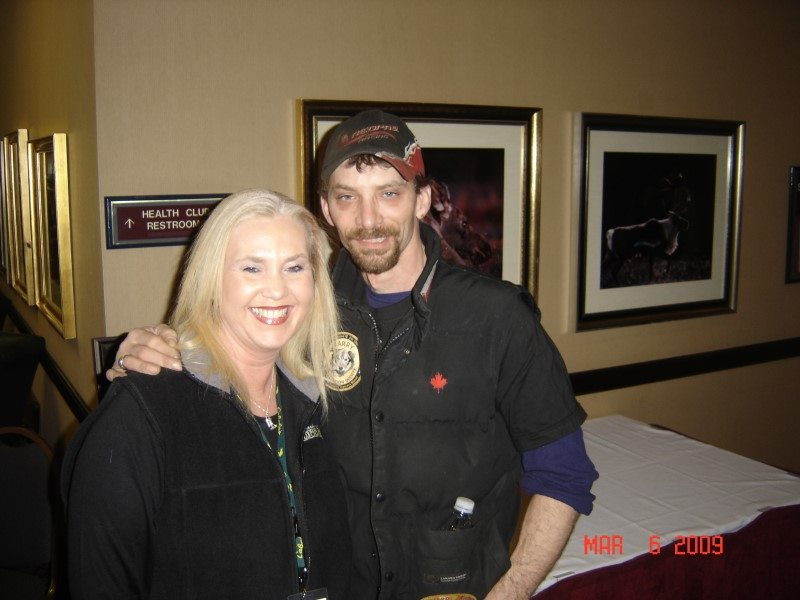 Alicia with 4x Iditarod Champion Lance Mackey